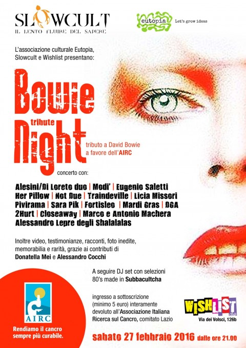 Bowie Tribute Night - Roma