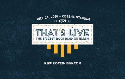 Rockin'1000 presenta That's Live - Cesena 2016