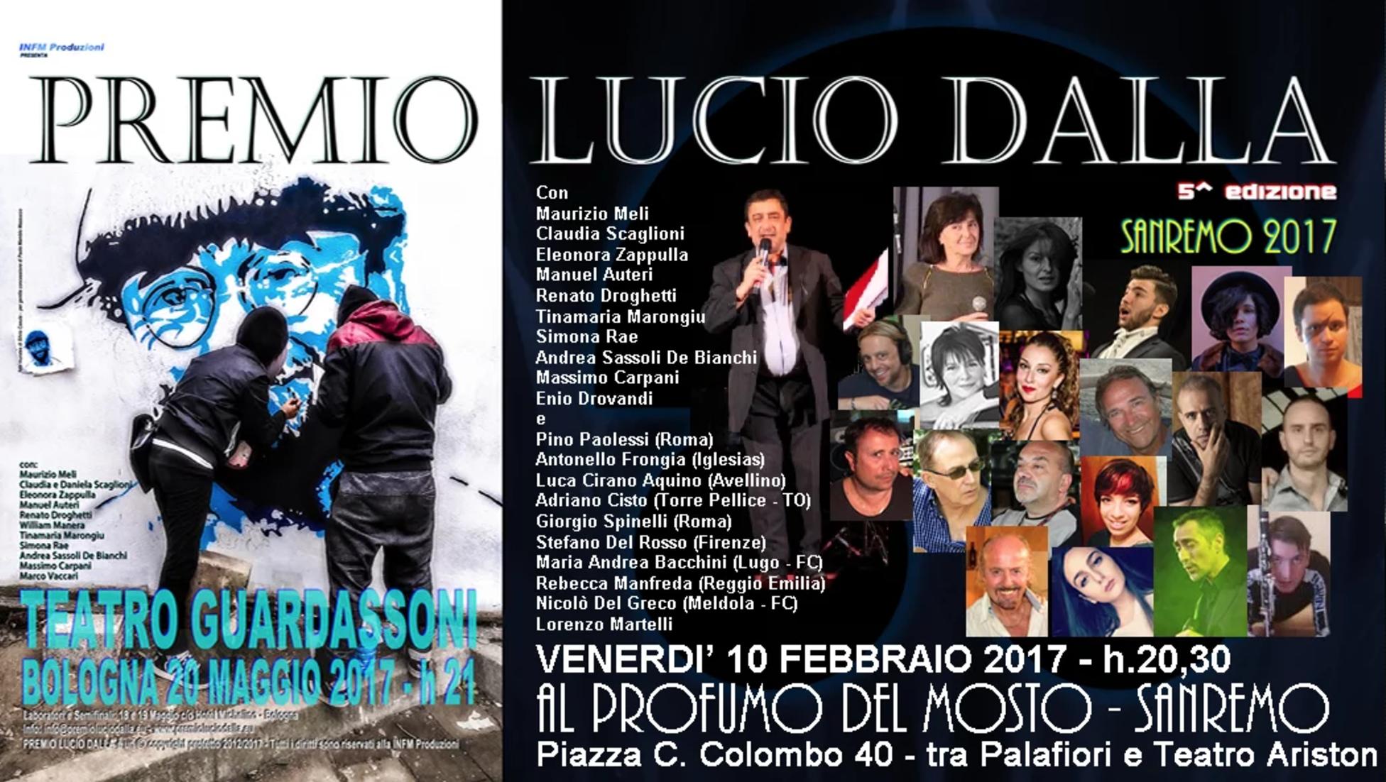 A Sanremo 2017 il Premio Lucio Dalla