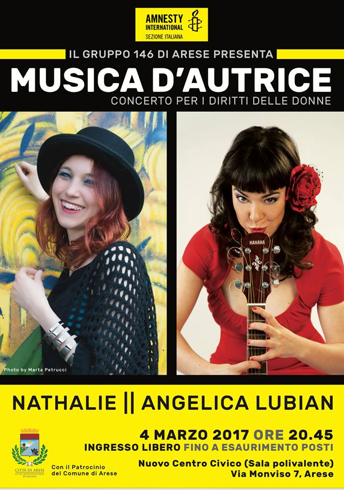"""Musica d'autrice"" Nathalie e Angelica Lubian - Arese"