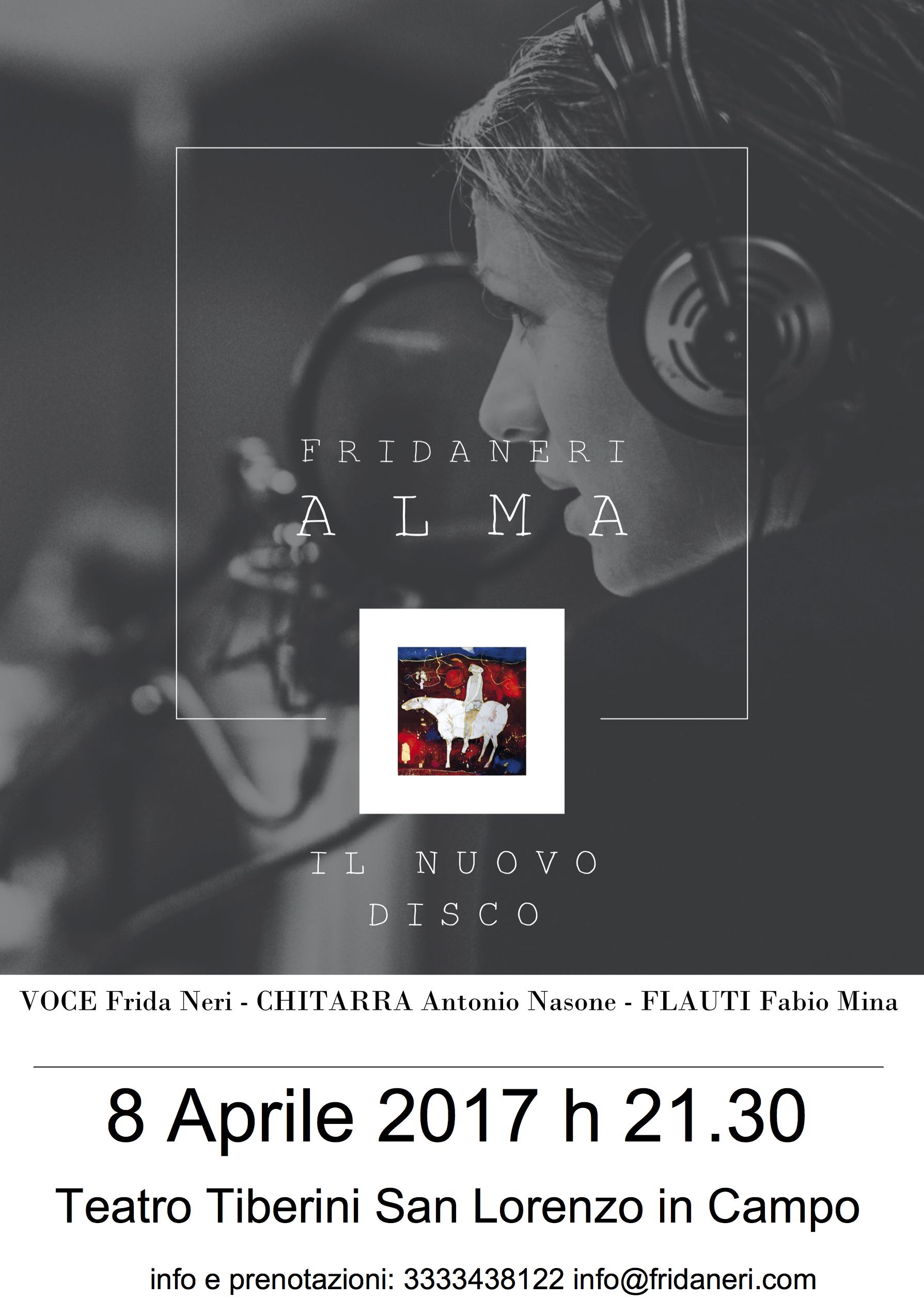 """Frida Neri presenta il nuovo disco """"ALMA"""""""